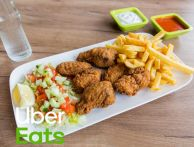 Hotwings Menu | 6 hotwings, friet, saus en frisdrank